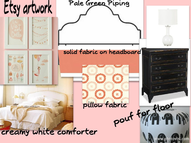 MOOD/Design Board: Twin Girls' Rooms