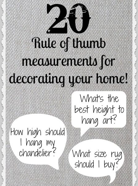 Standard Measurements to Know For Your Home