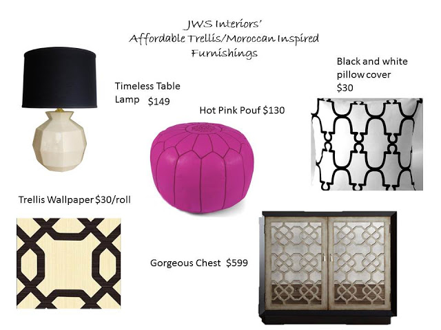 My Picks: Affordable Moroccan/Trellis Inspired Decor