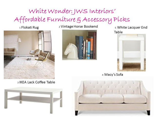 Affordable White Furniture & Accessories