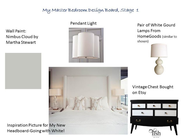 My Master Bedroom Design Board, Stage 1