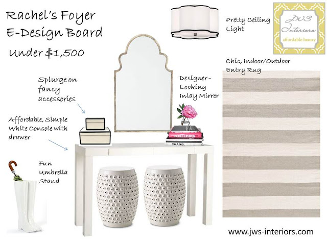 My Foyer Design For Fashion Blogger Rachel Parcell of Pink Peonies