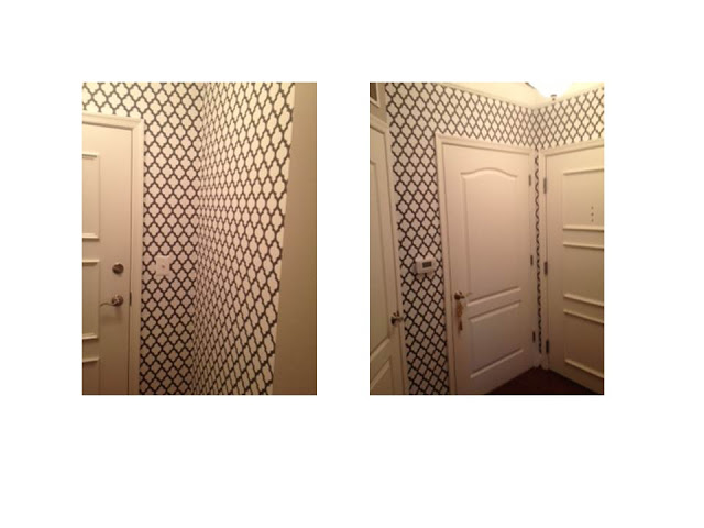 Sneak Peek on Project–Wallpapered Entrance in DC