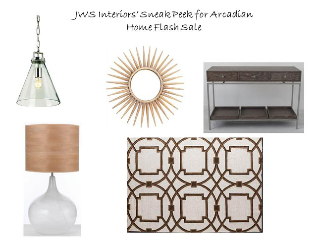 SNEAK PEEK AT JWS INTERIORS' UPCOMING FLASH SALE WITH ARCADIAN HOME!