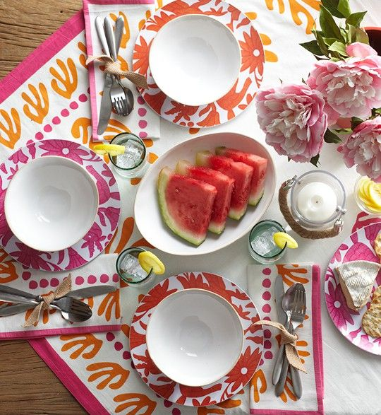 Outdoor tablescape from wisteria.com Love this site!!