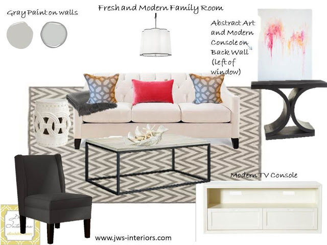E-DECOR PROJECT: MODERN FAMILY ROOM REVEAL