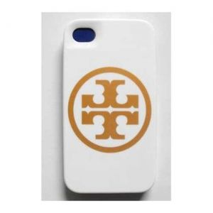 Tory Burch T Logo White Case for iPhone 4 TCC48
