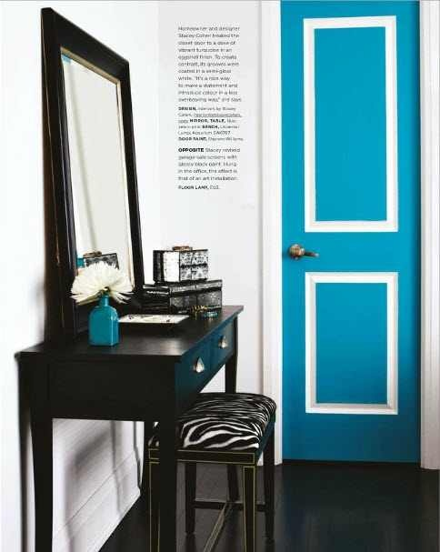 Painted door. Wouldn't this be fun to have a house full of colorful doors?