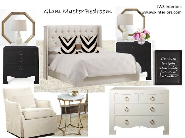 Glam Master Bedroom Design Board