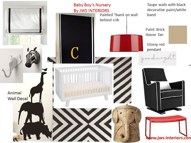 Design Board: Modern Nursery for Boy or Girl