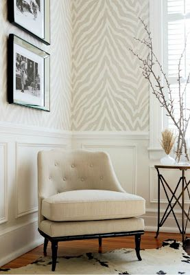 just the bee's knees: Thibaut inspired stenciled wall