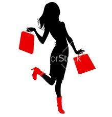 woman shopping silhouette - Google Search