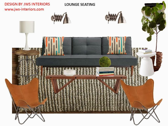 E-Decor Project Design Board –Modern Lounge Area