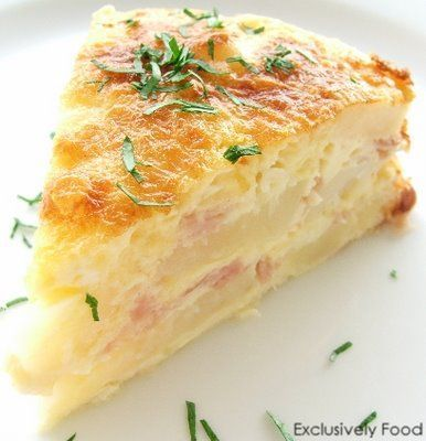 Sunday Brunch - Ham, Egg and Potato Bake with Cheddar and Parmesan....