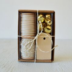 IVORY and GOLD gift wrap kit  holiday packaging by PaperAndPresent, $32.50