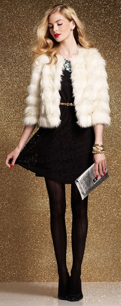 New Year Eve Outfits Ideas, 2014 new year's eve outfit, Free People New Year's Eve outfit,Fur and black dress for NEW YEAR'S EVE POST