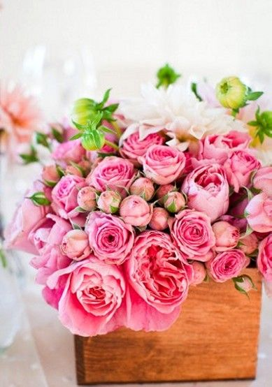 #pink #rose #centerpiece