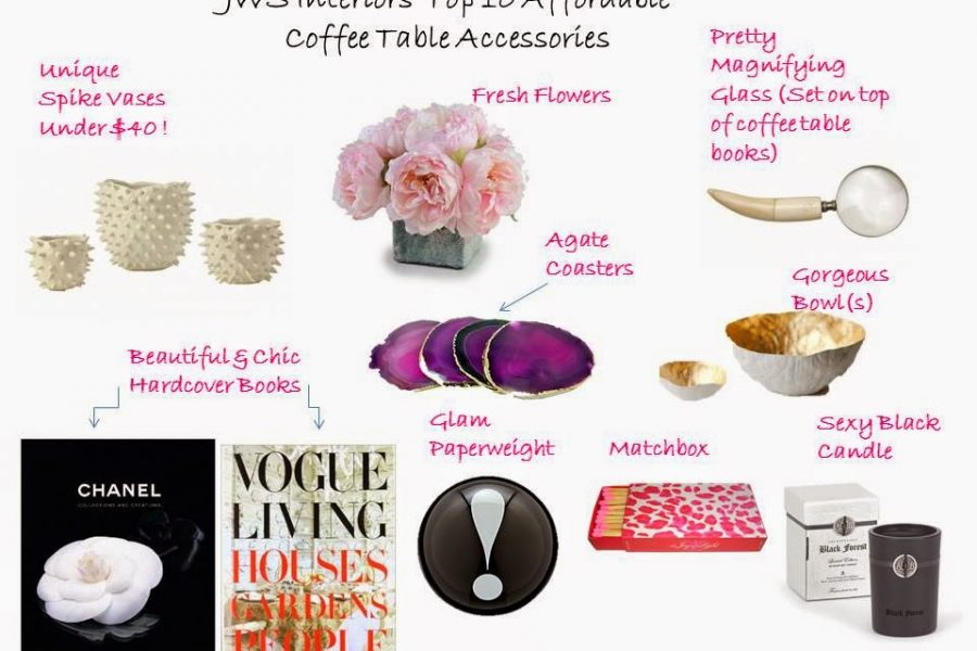 Girl On a Budget: Top 10 Affordable Accessories For Your Coffee Table