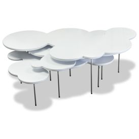 modern coffee tables Clouds White Coffee Table Set