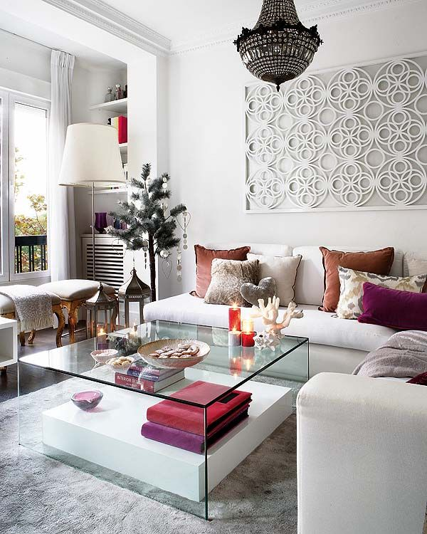 great white modern living room