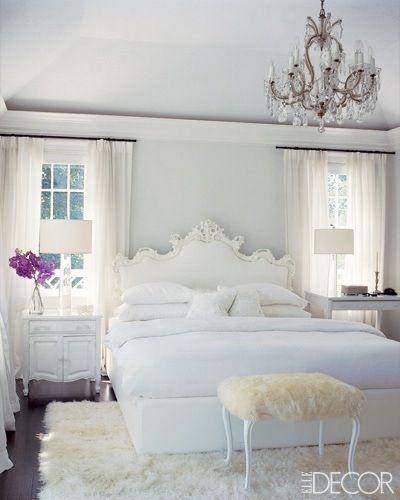 white shag carpet under bed