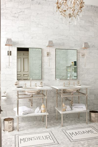 ETC INSPIRATION BLOG  DESIGN HOME INTERIOR FRENCH STYLE BATHROOM MARBLE MONSIEUR MADAME TILES BRASS FIXTURES INTERIOR DESIGNER BETTY LOU PHILLIPS 2 photo ETCINSPIRATIONBLOGDESIGNHOMEINTERIORFRENCHSTYLEBATHROOMMARBLEMONSIEURMADAMETILESBRASSFIXTURESINTERIORDESIGNERBETTYLOUPHILLIPS2.jpg