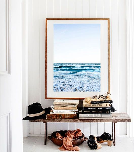 Styling An Entry: Hanging Art Over A Bench
