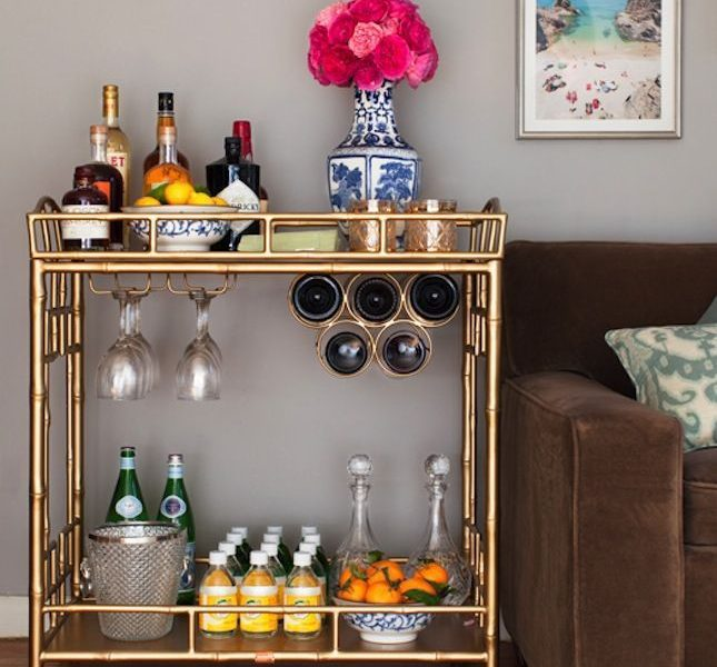 4 Ways to Style Your Bar Cart