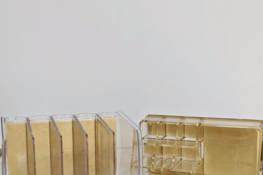 Glam DIY Lucite and Gold Desk Accessories with Shannon of Burlap & Lace