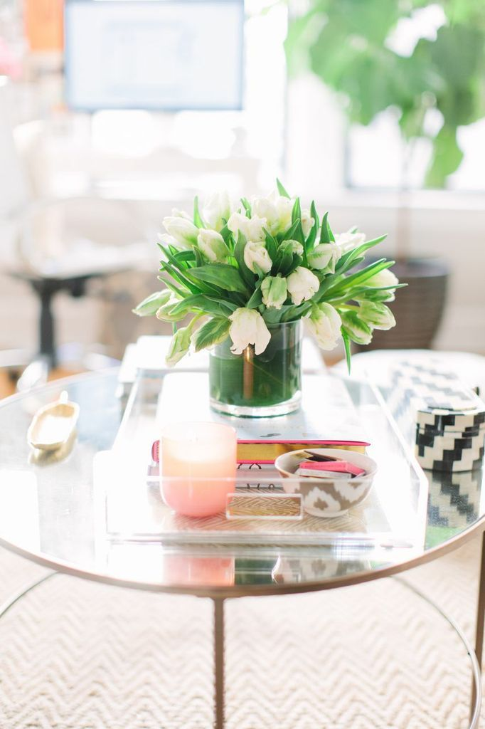 Lucite tray, styling