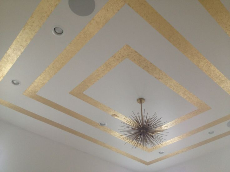 ceiling done with blue painting tape as guide
