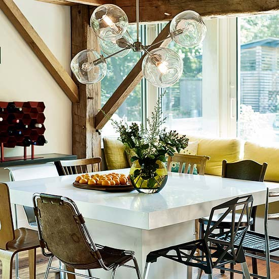 Dining area | Take a tour around an extended timber-framed house in the Hamptons | House tour | Livingetc | PHOTO GALLERY