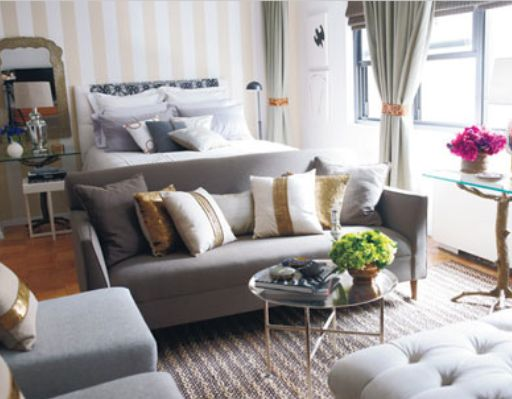 Pretty small space living in nyc jws interiors - Small couch for studio ...