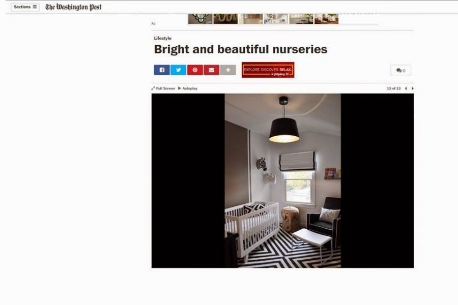 JWS Interiors' Nursery Featured in The Washington Post