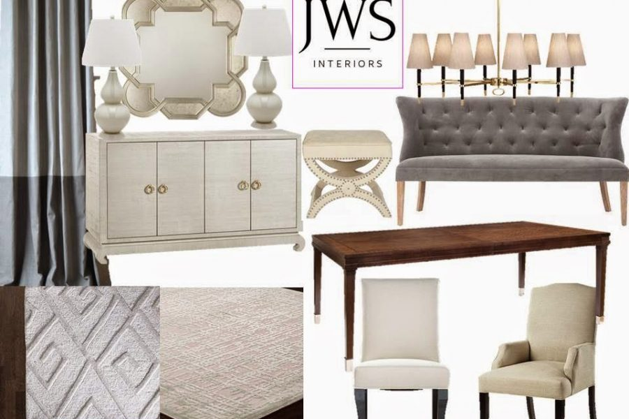 Current Project:  Dining Room Design Board /Weekend Links You'll Love