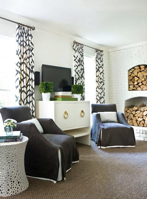 A Melanie Turner designed living room