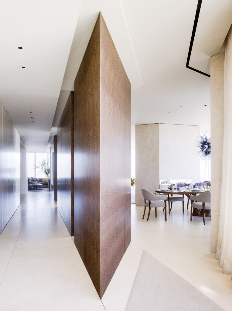 Designer David Oldroyd set all walls at an angle to enliven the space.