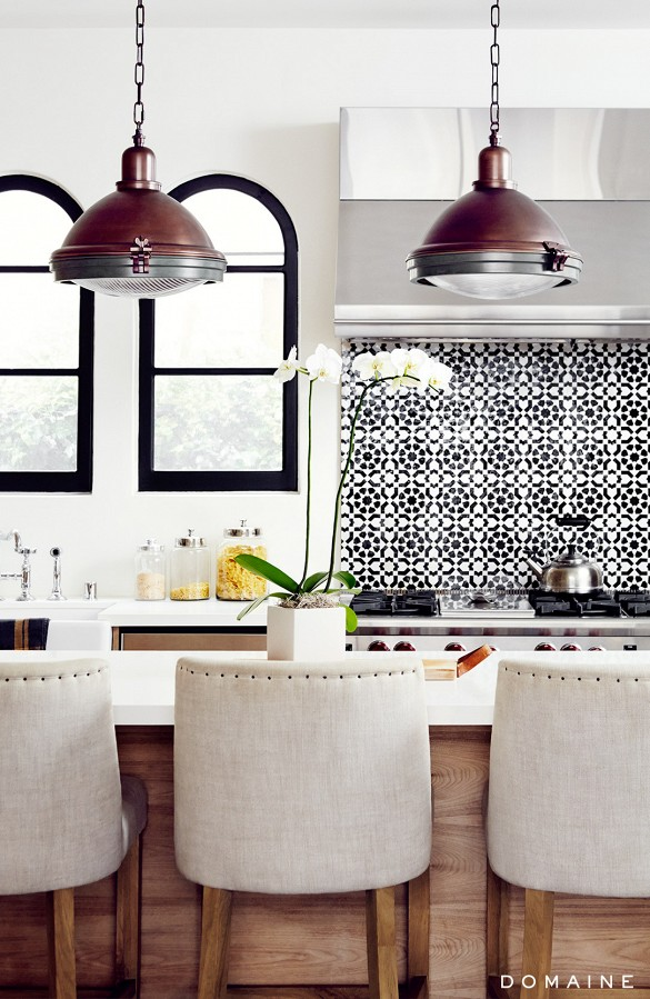 Kitchen Bar Stools and Pendant Lights