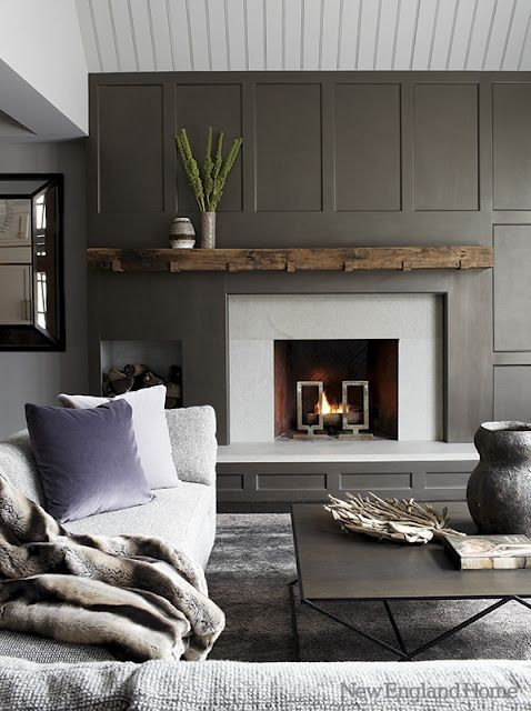 Mantle & Painted simple paneling