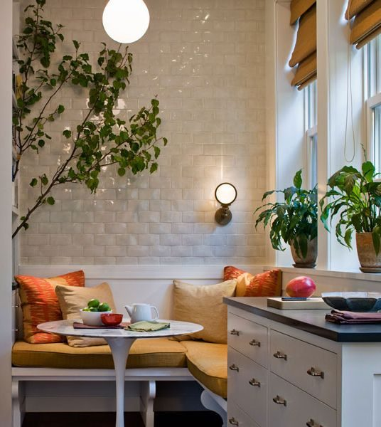 Tiled Kitchen Wall/Breakfast Nook