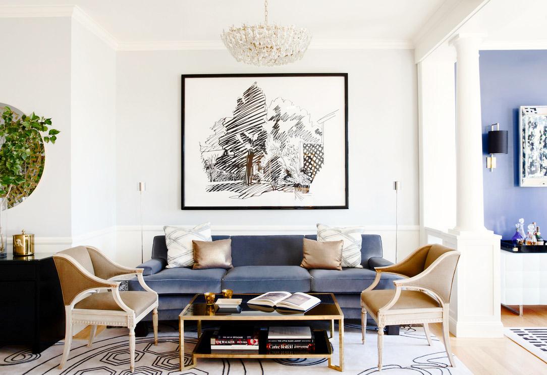 The All American Modern Family Room — JWS Interiors