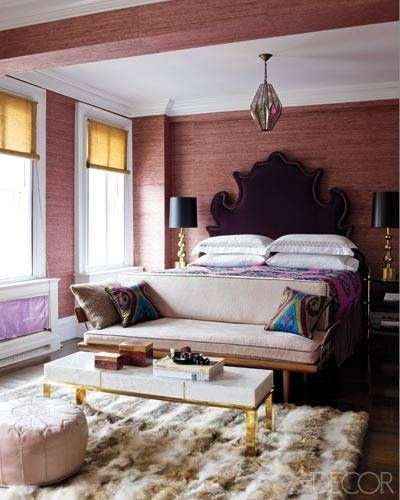 Glam pink bedroom