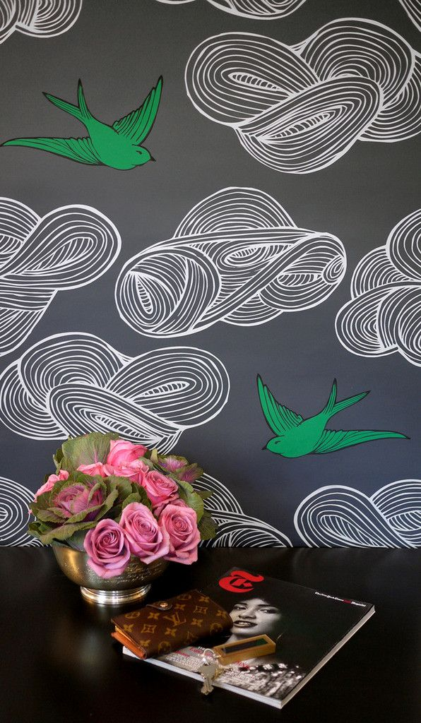 Hygge & West | Daydream (Gray)- my favourite wallpaper comes in other colours! Here's where to buy it!