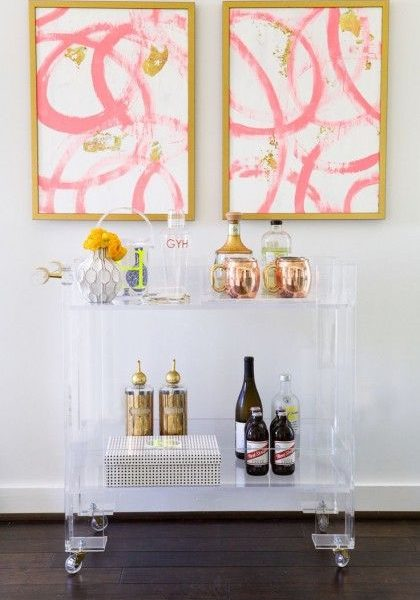 Styling Tips For Your Next Event/Gorgeous Bar Carts