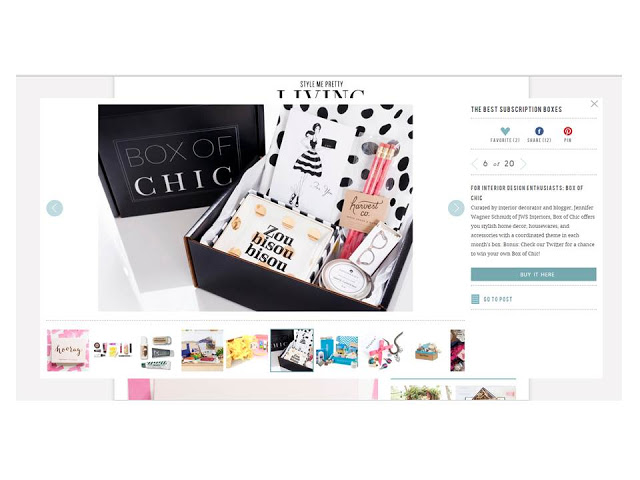 "Popular Blog Style Me Pretty Names Box of Chic As One The  ""Best Subscription Boxes"""