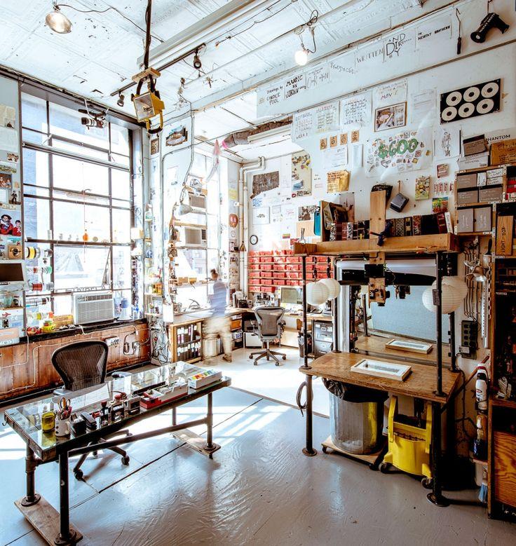 Casey Niestat's amazing studio.:
