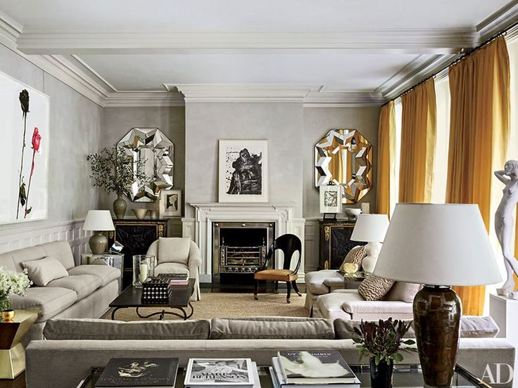 Gray Rooms Via Arch Digest