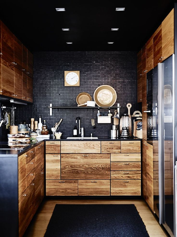 53 Stylish Black Kitchen Designs - Decoholic. (2015, January 27). Retrieved February 3, 2015, from http://decoholic.org/2015/01/27/53-stylish-black-kitchen-designs/: