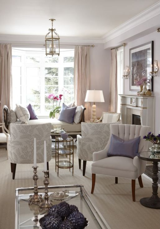Sarah's House Season 4 living room..never been a lavender fan, but this is pretty!: