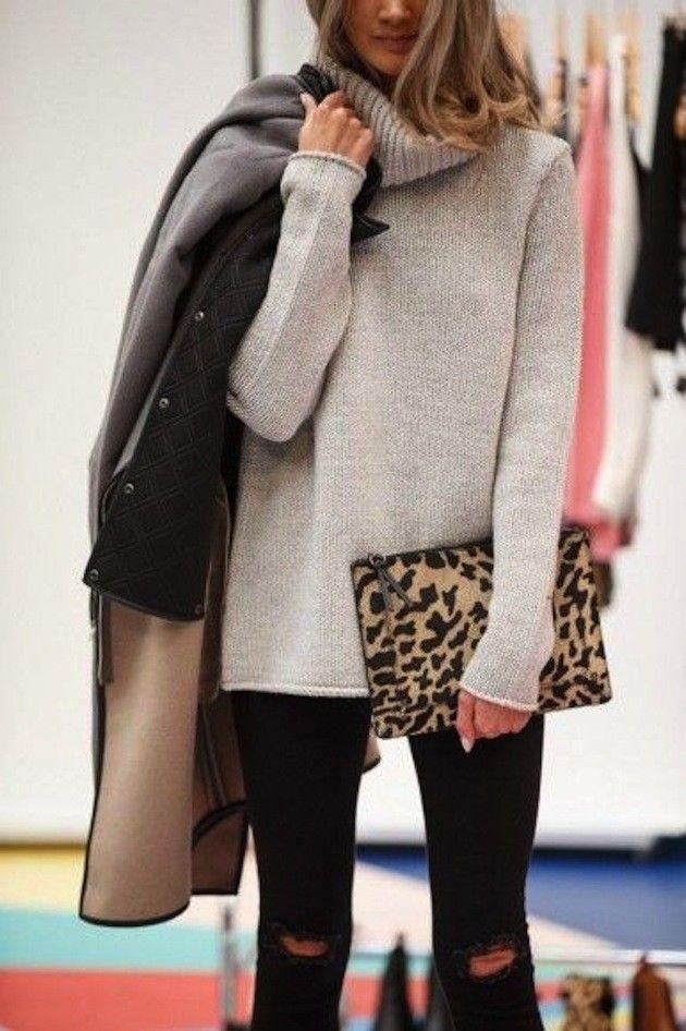 leopard clutch: